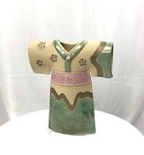 Kimono Pottery Vase Hand Painted Glazed