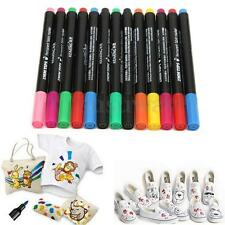 13 Fabric Marker Pens Permanent Colors For DIY Textile Clothes T-Shirt Shoes