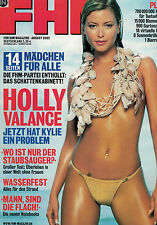 FHM August 8,08/2002,Holly Vallance,Eva Habermann,Paulina Rubio,Johnny Cash