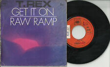 T. REX Marc Bolan 2 track pic sleeve 45 GET IT ON Raw Ramp France