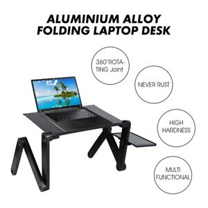 Adjustable Aluminum Laptop Desk Ergonomic PortableTV Bed sofa PCTable Stand pad