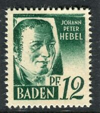 GERMANY ALLIED OCC BADEN;   1947 early pictorial Mint MNH unmounted 12pf.