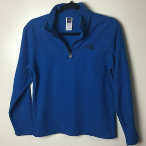The North Face blue fleece 1/4 zip neck pullover. Large (14-16)