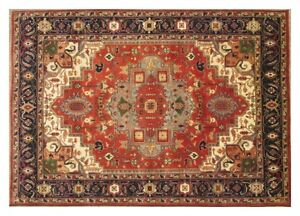 Rust Red Rug deals Hand-Knotted 9x12 ft Wool  Rug