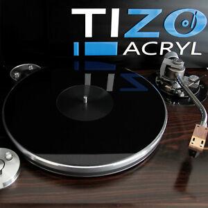 Plattentellerauflage schwarz Acryl / PLEXIGLAS® 2mm D=300mm| turntable mat black