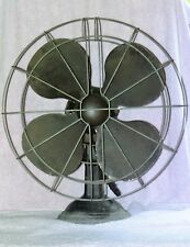 """AS FOUND VINTAGE UNKNOWN BRAND 16"""" BLADE ELECTRIC FAN FOR PARTS OR REFURBISH"""