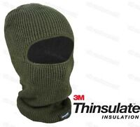 Mens 3M Thinsulate Open Faced Balaclava Fully Fleeced Lined Thermal Insulated