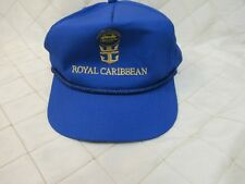 Royal Caribbean Hat 5 panel Snapback Cap Blue Legend of the Seas pin R Vtg
