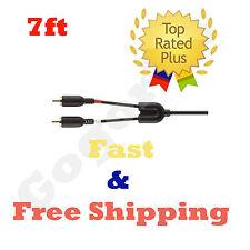 NEW Belkin Mobile 7in Low 1-3.5mm Plug Black Y adapter 2rca Plugs F8Z360TT07-P