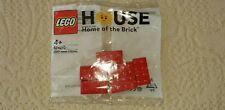 SUPER RARE LEGO HOUSE BILLUND 624210 6 RED BRICKS - NEW AND SEALED