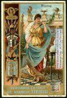 AGGRIPINA Ancient Roman Heroine Art Nouveau c1897 Trade Ad Card