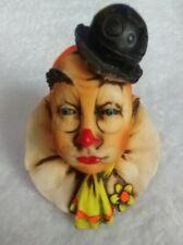 *~*Artefice Ottanto Clown Bust Figurine - Made In Italy - Artist Signed*~*
