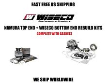 NAMURA BIG BOR END PISTON KIT + WISECO CRANKSHAFT BOTTOM END REBUILD  440 400EX