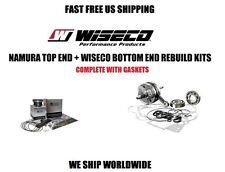NAMURA TOP PISTON KIT + WISECO CRANKSHAFT BOTTOM END ENGINE REBUILD RHINO 660