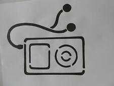 Schablone MP3 Player auf A4