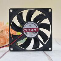 COFAN Ultra-thin Chassis Large Air Volume Fan F-8015H12BII 12V 0.35A 8cm Teile