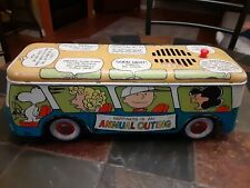 Snoopy Peanuts School Tin Talking Bus Schulz Rare 1966 Chein Antique