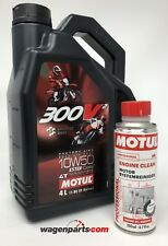 Aceite Motos Motul 300V2 10W50 FL Road/ Off Road, 4 litros + Engine Clean 200ml