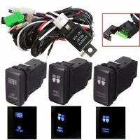 12V LED Driving Spot Light Bar Wiring Loom Harness Switch For TOYOTA HILUX PRADO