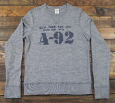 ABERCROMBIE & FITCH New York A92 Pullover Gray Crewneck Soft Sweater Size M