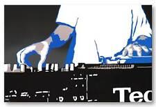 "Steez Cross Fade *FRAMED* CANVAS PRINT Technics Turntable - DJ POP ART 24x16"""