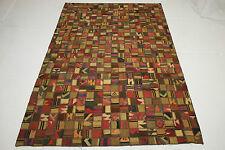 Patchwork Vintage Orient Tapis Kelim rarement 300x200 marron clair Used Look