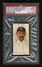 PSA 7.5 RANJITSINHJI Cricket Card 1901 Wills Cigarette #21 (Highest One Graded)