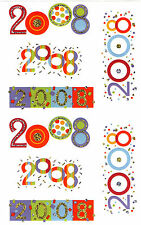 Mrs. Grossman's Giant Stickers - 2008 Year Numbers - Reflection - 2 Strips