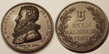 Médaille, A Malherbe né à Caen en 1555, La ville de Caen 1815 !!