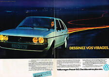 PUBLICITE ADVERTISING 044   1979    VOLKSWAGEN  GOLF PASSAT GLS  ( 2 pages)