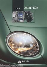 Daewoo Matiz Zubehör Prospekt 7/00 brochure 2000 Auto PKWs Autoprospekt Korea
