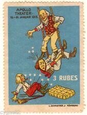 POSTER STAMP GERMAN 1913 APOLLO THEATER THREE RUBES