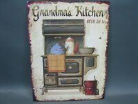 Nostalgie Plaque Four Accessoire de Cuisine Maison Campagne 25 CM X 33 Grandmas
