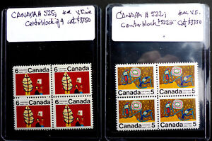 CANADA #522i & #525i BLOCK OF 4  MINT NH** POST OFFICE FRESH CAT.$80