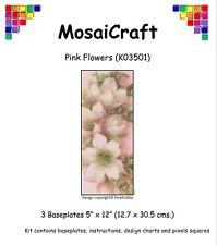 MosaiCraft Pixel Craft Mosaic Art Kit 'Pink Flowers' Pixelhobby