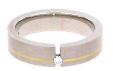 Gloria Star Titan Ring mit einem Brilliant Ringgröße 54 (17,20 mm ø)