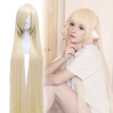 Eruda Chobits Coconut Extra Cosplay Wig Long Straight Beige Light Blonde Wigs