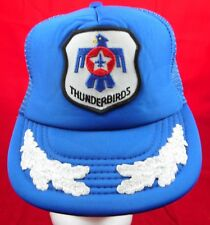Vintage Airforce Thunderbirds Blue With Patch Retro Snapback Hat Cap
