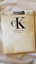Vtg Calvin Klein Control Top Pantyhose Size 4 Frost 10 denier Maximum Sheer