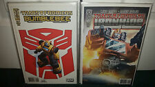 Idw Transformers Bumblebee & Ironhide #1-4 Complete All Cover B Lot