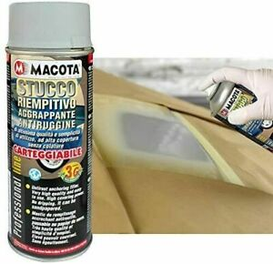 STUCCO RIEMPITIVO AGGRAPPANTE ANTIRUGGINE BOMBOLETTA SPRAY MACOTA DA 400 ML 200M