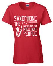 Saxofón Camiseta Mujer S-2XL Músico Jazz Mujer Regalo Idea de Regalo
