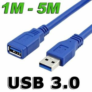 SuperSpeed USB 3.0 Cable Male to Female Data Extension Charge Cord For Laptop PC
