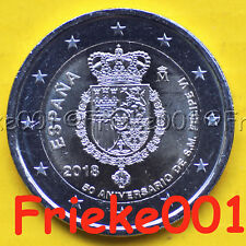 Spanje - Espagne - 2 euro 2018 comm.(50ste Verjaardag Felipe)