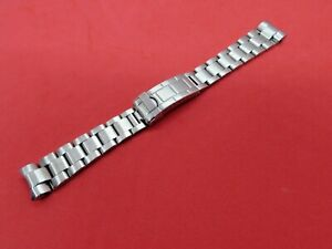 NEW REPLACEMENT FOR ROLEX  SOLID STAINLESS STEEL OYSTER BRACELET CURVED END 20MM
