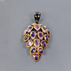 Fine art design jewelry Amethyst Pendant Silver 925 Sterling  /NP15189