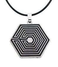 Necklace, Pendant Pattern Maze Exo Steel +Cord