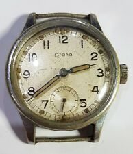 GRANA MILTARY STYLE WRIST WATCH FOR PARTS ONLY CIRCA 1940S