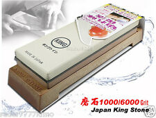 Japanese King Whetstone Waterstone 1000/6000 Grit  Kitchen Sharpener Flatware