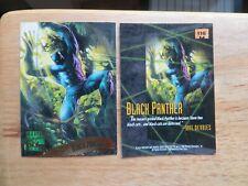 1995 FLEER MARVEL MASTERPIECES BLACK PANTHER CARD SIGNED DAVE DEVRIES ARTWORK